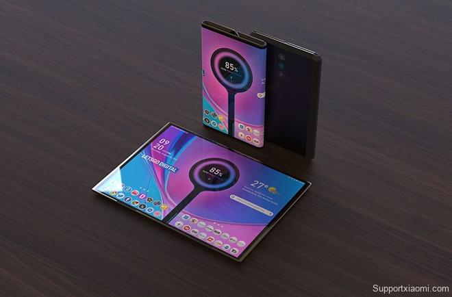 Tuyệt phẩm thiết kế điện thoại Xiaomi gập lại với 3 camera sau - 3