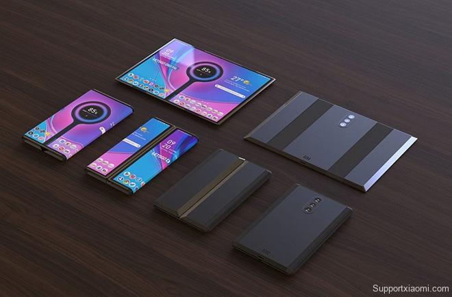 Tuyệt phẩm thiết kế điện thoại Xiaomi gập lại với 3 camera sau - 2