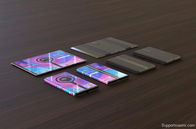 Tuyệt phẩm thiết kế điện thoại Xiaomi gập lại với 3 camera sau - 1