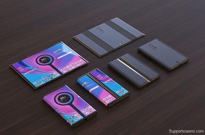Tuyệt phẩm thiết kế điện thoại Xiaomi gập lại với 3 camera sau - 4