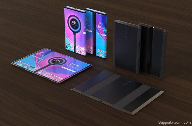 Tuyệt phẩm thiết kế điện thoại Xiaomi gập lại với 3 camera sau - 6
