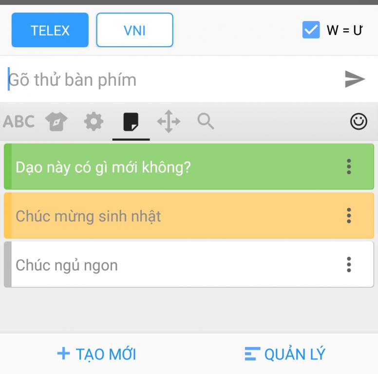 Chia sẻ về bàn phím gõ tiếng Việt bạn đang sử dụng: Gboard, Laban Key, SwiftKey...