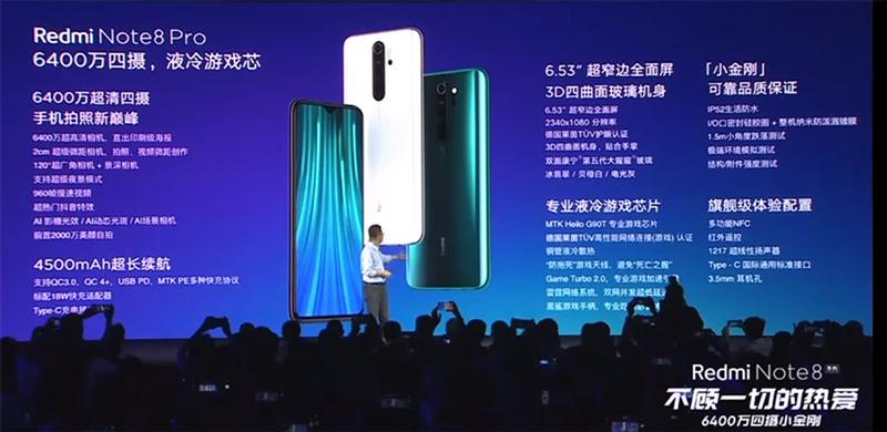 """redmi-note-8-pro-ra-mat-9 Redmi Note 8 và Redmi Note 8 Pro ra mắt: 4 camera, """"sinh ra để chơi game"""", giá từ 3.2 triệu"""