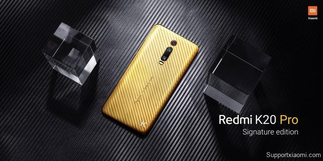Xiaomi trình làng Redmi K20 Pro Signature Edition, lưng bằng vàng nguyên chất, đính kim cương, chỉ sản xuất 20 chiếc - Ảnh 1.